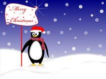 Pingüino para la Navidad stock de ilustración