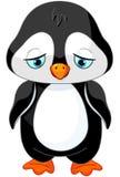 Pingüino triste stock de ilustración