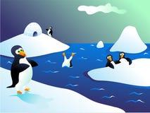 Pingüinos ilustración del vector