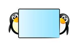 Pingüinos con el vector Imagenes de archivo