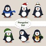 pingüinos conjunto Imagen de archivo libre de regalías