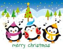 Pingüinos de la Navidad Fotos de archivo