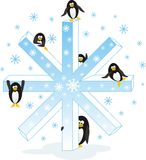 Pingüinos de la Navidad Fotografía de archivo