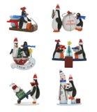 Pingüinos de la Navidad imagen de archivo