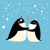 Pingüinos del amor libre illustration