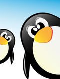 Pingüinos del vector