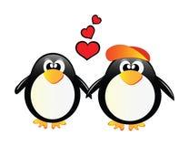 Pingüinos del vector stock de ilustración