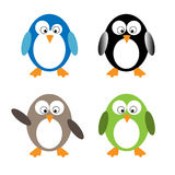 Pingüinos divertidos ilustración del vector