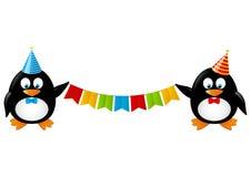 Pingüinos divertidos Fotos de archivo