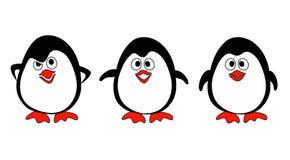 Pingüinos en blanco Foto de archivo