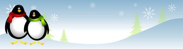 Pingüinos en la nieve ilustración del vector