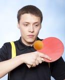 PING-утилита человека играя pong Стоковые Изображения RF