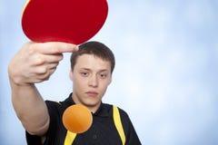 PING-утилита человека играя pong Стоковые Фото