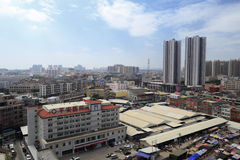 Ping'an ( peace ) hospital in xiang'an new district of amoy city. Here is the heart area of xiang'an new district, there are market, hospital and commercial Royalty Free Stock Photo