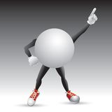 Ping ping ball character striking a pose Royalty Free Stock Photography