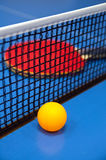 Ping Pong. Racket and ball for table tennis Stock Photography