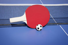 Ping pong. Red table tennis at outdoor Stock Image