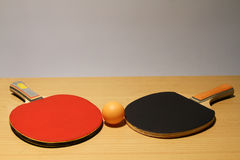 Ping pong for amateur racers. Royalty Free Stock Photo