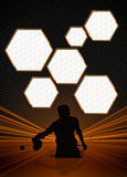 Ping pong background Stock Photo