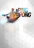 Ping pong background stock image
