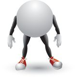 Ping pong ball cartoon character. Cartoon character of a ping pong ball Royalty Free Stock Image