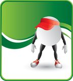 Ping pong ball character with visors Royalty Free Stock Images