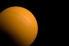 Ping Pong Ball en el fondo negro, representación 3D stock de ilustración