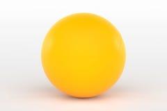 Ping Pong Ball Isolated bij het Witte, 3D Teruggeven Royalty-vrije Stock Afbeelding
