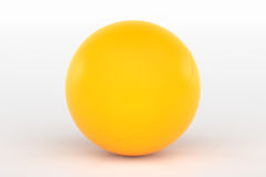 Ping Pong Ball Isolated på vit, tolkning 3D Royaltyfri Bild