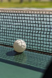 Ping pong ball and net Stock Photo