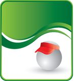 Ping pong ball with a visor Stock Images