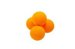 Ping-pong balls. Yellow ping-pong balls setting in form of pyramid Royalty Free Stock Image