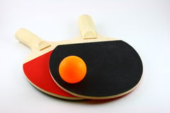 Ping pong bats. Ping pong / table tennis bats and ball stock photo