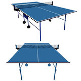Ping pong blue table tennis. Vector illustration Stock Image