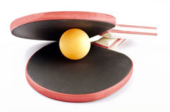 The ping pong clam. Ping pong objects on white Stock Images