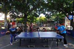 Ping-pong dans les rues Image libre de droits
