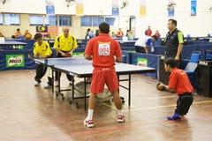 Ping-pong degli uomini per le persone invalide Immagine Stock Libera da Diritti