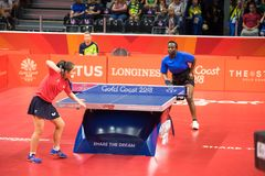 Ping-pong 2018 dell'Australia dei giochi di commonwealth fotografia stock libera da diritti