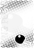 Ping pong dots poster background Stock Images
