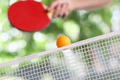 Ping-pong en la acción Fotos de archivo libres de regalías