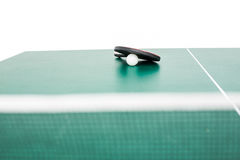 Ping pong equipment Royalty Free Stock Images