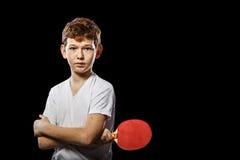 Ping-pong escarpado del jugador Imágenes de archivo libres de regalías