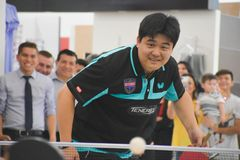 PING PONG EVENT, CHAMPION stock photo