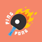 Ping-pong is on fire vector illustration. Ping pong is on fire vector illustration Stock Photo