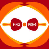 Ping pong flat design -  illustration. Table tennis vector elements. Stock Photos