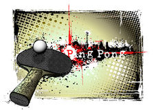 Ping pong frame. Illustration of the ping pong on the dirty background Royalty Free Stock Images