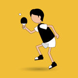 ping pong game design Royalty Free Stock Photography