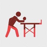 ping pong game design Royalty Free Stock Photo
