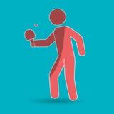 Ping pong game design Royalty Free Stock Image