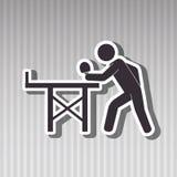 Ping pong game design Stock Image